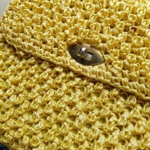 Vintage Bags - ⛏VINTAGE 💋 Sunny Yellow Pocketbook